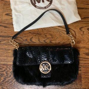 Michael Kors Black Fur Handbag